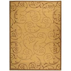 Safavieh Indoor/ Outdoor Oasis Natural/ Brown Rug (5'3 x 7'7)