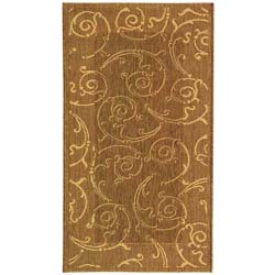 Indoor/ Outdoor Oasis Brown/ Natural Rug (2'7 x 5')