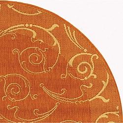 Safavieh Indoor/ Outdoor Oasis Terracotta/ Natural Rug (5'3 Round)