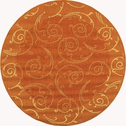 Indoor/ Outdoor Oasis Terracotta/ Natural Rug (5'3 Round)