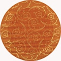 Indoor/ Outdoor Oasis Terracotta/ Natural Rug (5'3 Round)