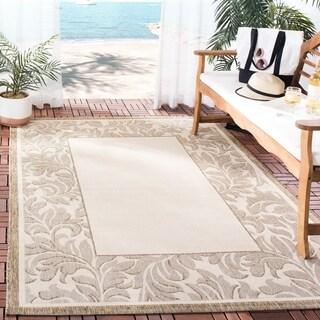 Safavieh Indoor/ Outdoor Paradise Natural/ Brown Rug (7'10 x 11')