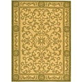 Indoor/ Outdoor Beaches Natural/ Olive Rug (4' x 5'7)