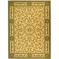 Indoor/ Outdoor Beaches Natural/ Olive Rug (5'3 x 7'7)