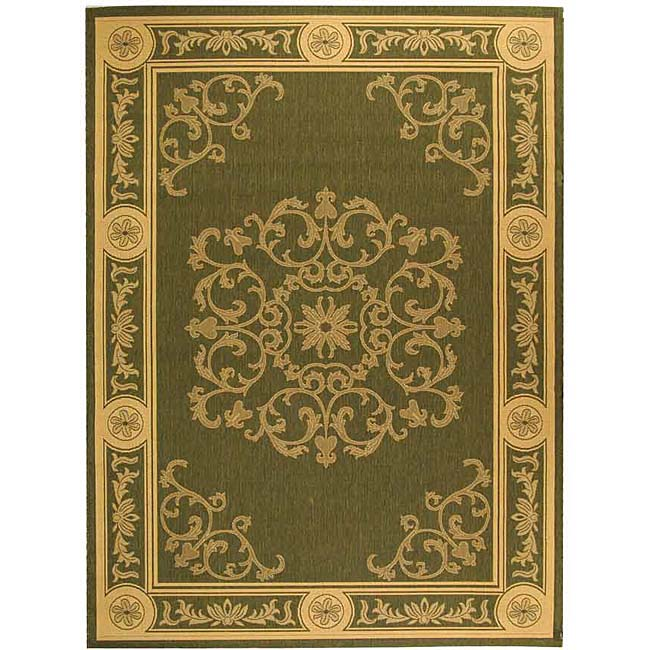 Safavieh Indoor/ Outdoor Sunny Olive/ Natural Rug (4' x 5'7) at Sears.com