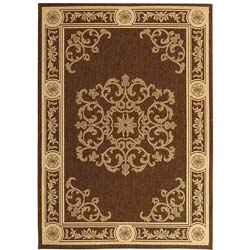 Safavieh Indoor/ Outdoor Sunny Chocolate/ Natural Rug (2'7 x 5')