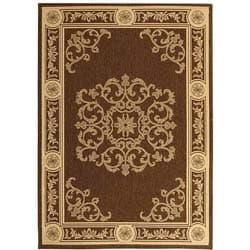 Safavieh Indoor/ Outdoor Sunny Chocolate/ Natural Rug (2'7 x 5')