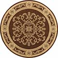 Safavieh Indoor/ Outdoor Sunny Chocolate/ Natural Rug (5'3 Round)