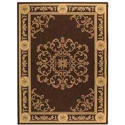 Safavieh Indoor/ Outdoor Sunny Chocolate/ Natural Rug (6'7 x 9'6)