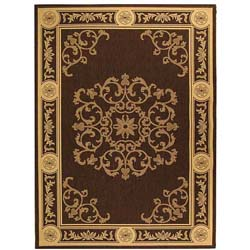 Indoor/ Outdoor Sunny Chocolate/ Natural Rug (7'10 x 11')