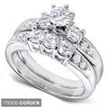 14k Gold 1 1/4ct TDW Diamond Bridal Ring Set (H-I, I1-I2)