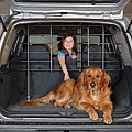 Hammertone Gray Steel Adjustable Vehicle Pet Barrier with Door