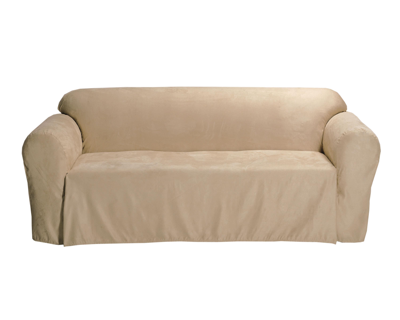 Microsuede Solid Sofa Drop Skirt Slipcover Overstock