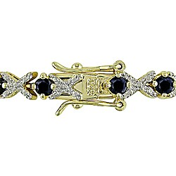 Miadora Goldplated Sterling Silver Sapphire Bracelet