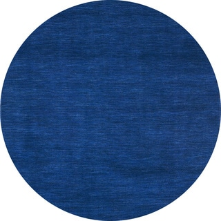Hand-tufted Elite Casual Blue Wool Rug (6' Round)