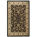 Black Handmade Elite Traditional Wool Rug (5' x 8')