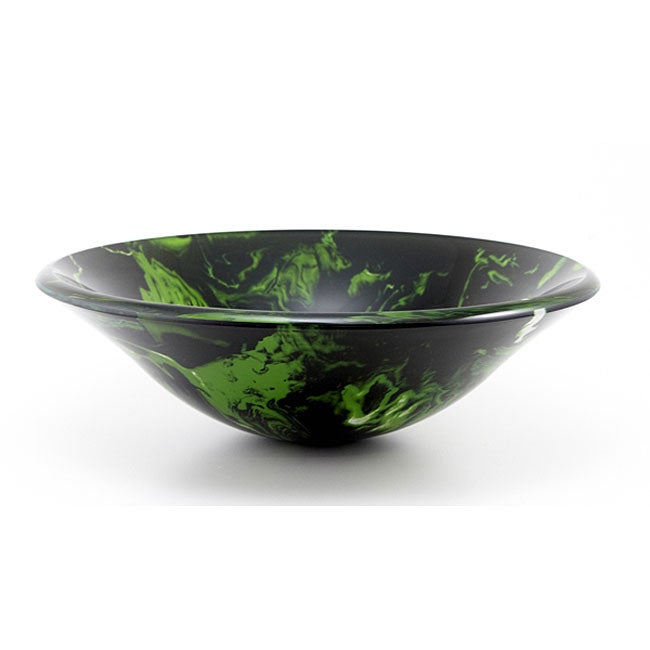 DeNovo Green Illuminosity Glass Vessel Sink