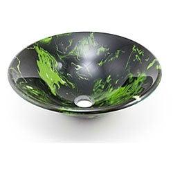 DeNovo Green Illuminosity Glass Vessel Sink