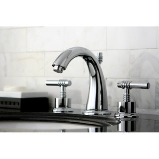 Milano Widespread Chrome Bathroom Faucet