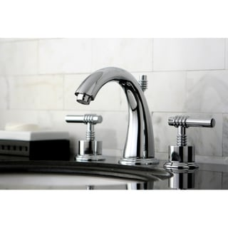 Milano Widespread Chrome Bathroom Faucet