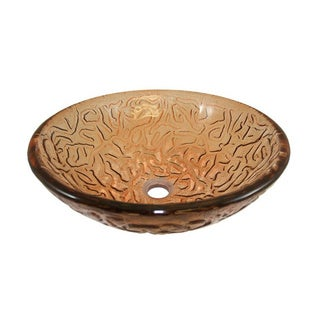 Flotera Millennium Modern Glass Vessel Bathroom Sink