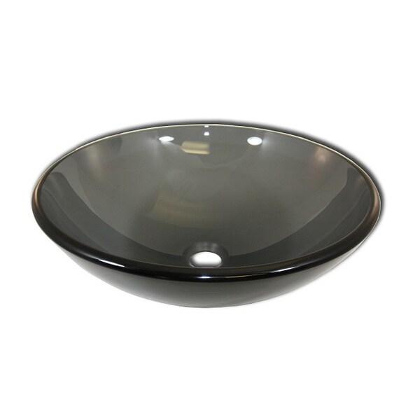 Braven Modern Glass Vessel Sink by Flotera