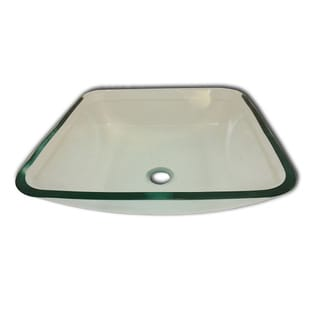 Albus Modern Glass Vessel Clear Bathroom Sink