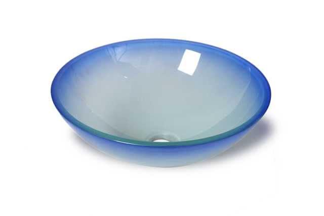 Flotera Azul Glass Vessel Bathroom Sink
