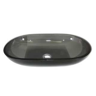 Flotera Jet Black Glass Vessel Bathroom Sink