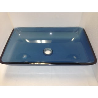 Indivar BTR-005-NY0087 Glass Vessel Bathroom Sink