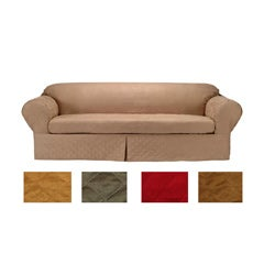 Microsuede Quilted 2-piece Sofa Slipcover