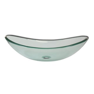 Levana Modern Glass Bathroom Vessel Sink