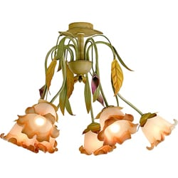 Flower and Leaf 6-light Ceiling Lamp