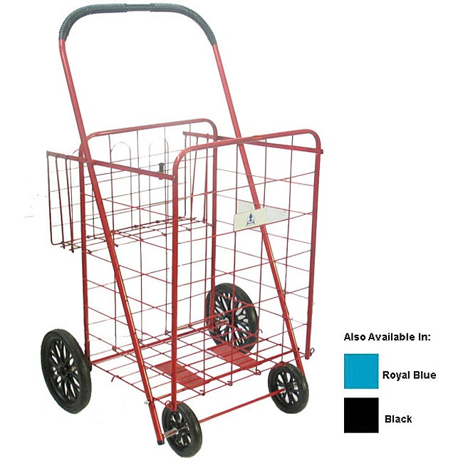 Large Heavy-duty Shopping Cart with Basket