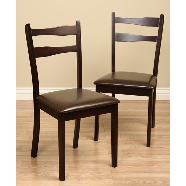 Callan Dining Chairs Set Peony Retro Dark Walnut Black