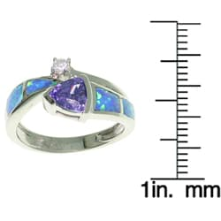 CGC Sterling Silver Opal and CZ Stylish Ring