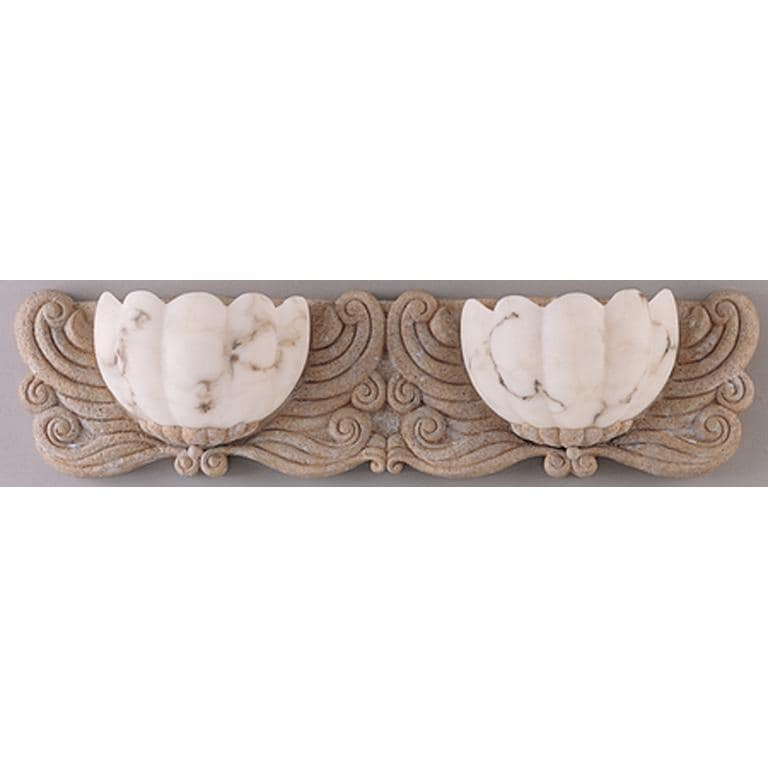 Frolic Fossil Stone 2-light Bath Sconce
