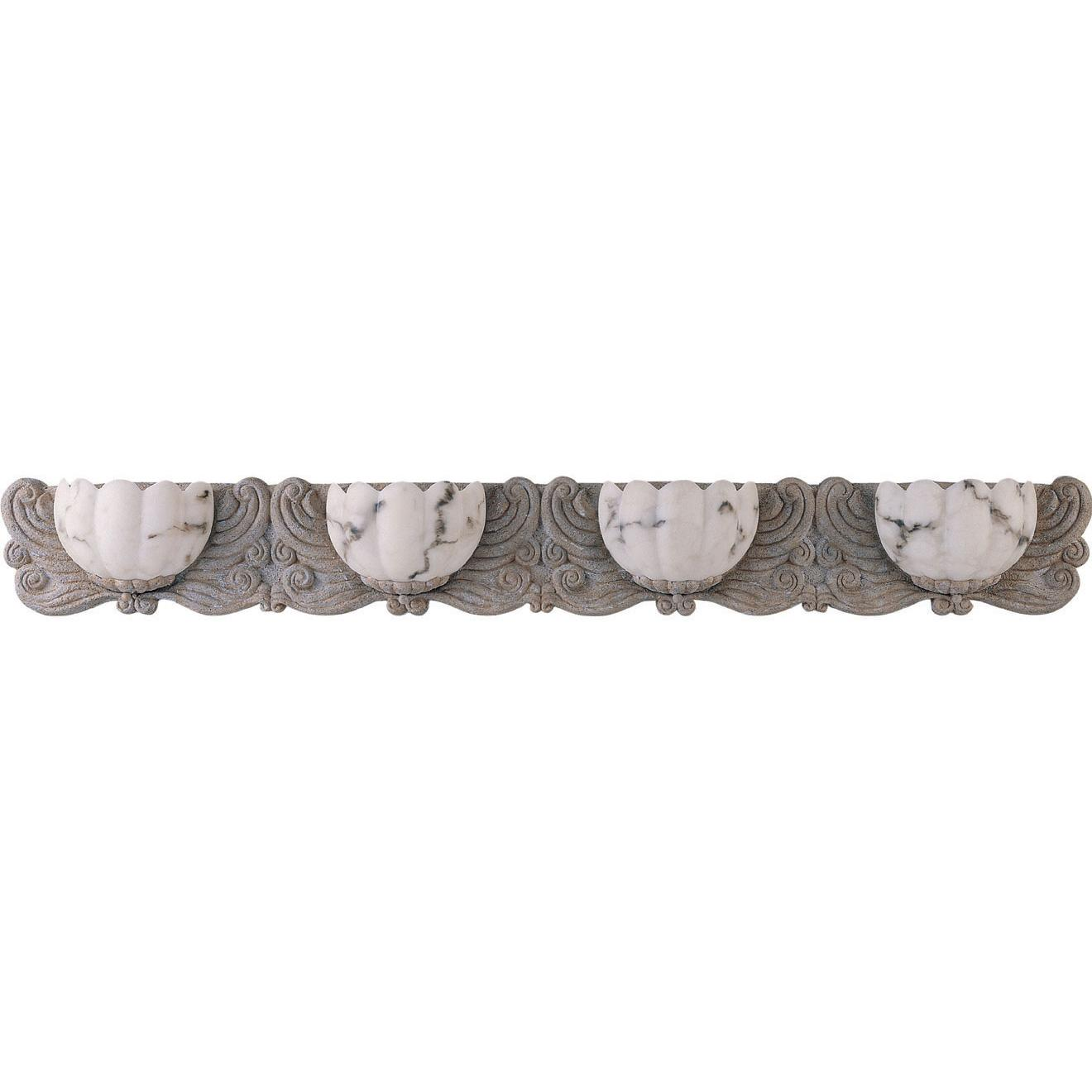 Frolic 4-light Fossil Stone Bath Sconce