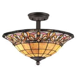 Old Bronze Semi-flush Ceiling Fixture