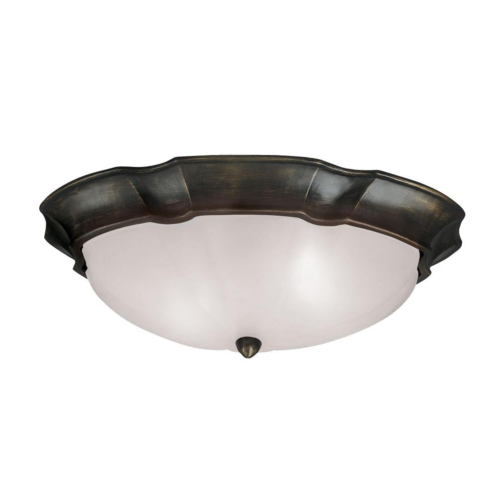 bronze 3 light flush mount light fixture. Black Bedroom Furniture Sets. Home Design Ideas