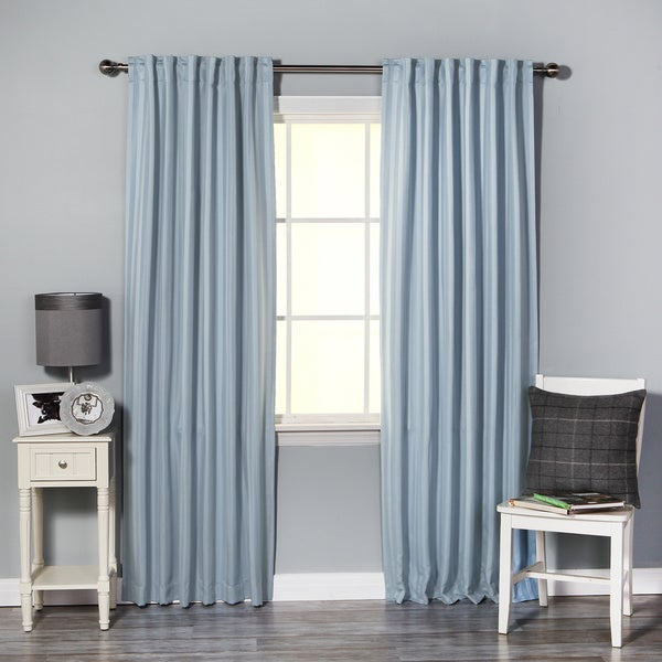 Lights Out Hotel Stripe 84-inch insulated Blackout Curtains