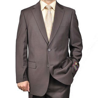 Giorgio Fiorelli Men's Brown 2-button Suit