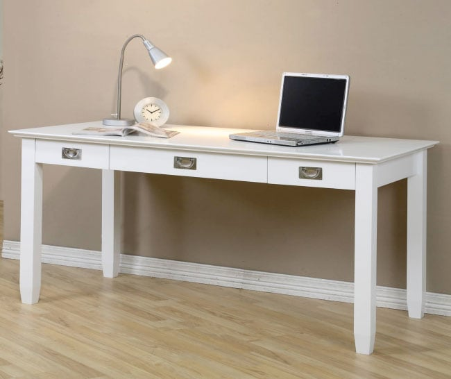 White Writing Desk - 80071032 - Overstock.com Shopping - Great Deals