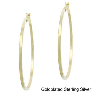 Mondevio 18k Goldplated Sterling Silver 35mm Hoop Earrings