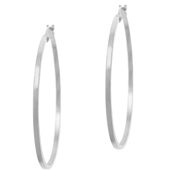 Mondevio Sterling Silver 35 mm Hoop Earrings