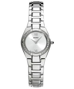 Seiko Women's Steel Diamond Dress Watch