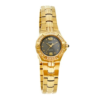 Seiko Coutura Women's Gold Tone Diamond Quartz Watch