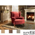 Stretch Suede Wingchair Slipcover