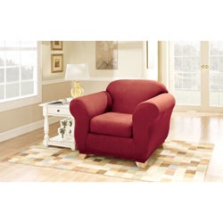 Stretch Suede Chair Slipcover