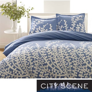 City Scene Branches French Blue 3-piece Comforter Set